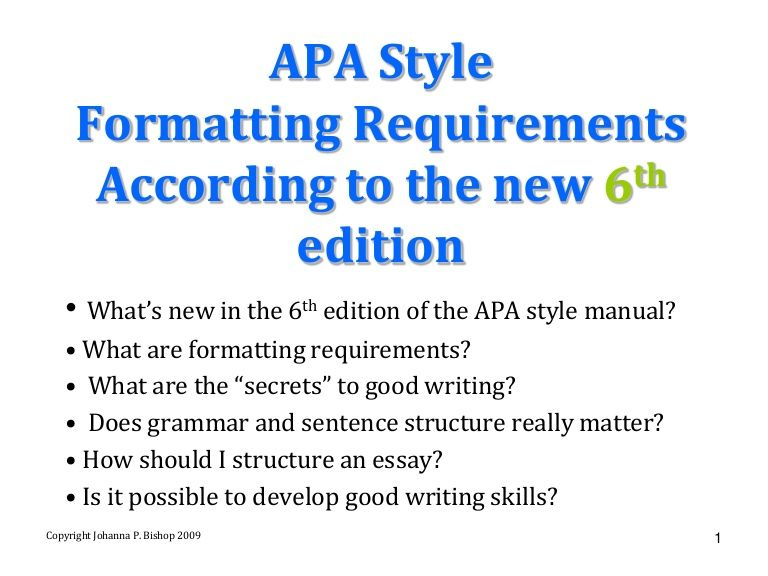 Apa And Grammar  Words    Apa Style