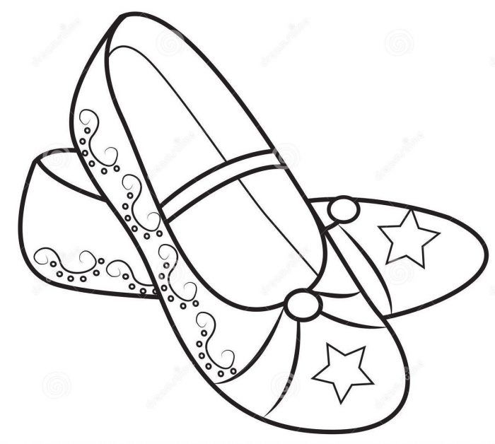 Coloring Pages Girls Shoes To Printable Coloring Girls Shoes To Print For Kids Pictures Coloring Books Coloring Pages Easy Coloring Pages
