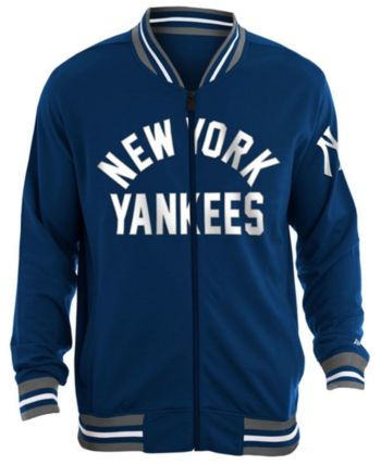 New Era Men's New York Yankees Lineup Track Jacket Blue L
