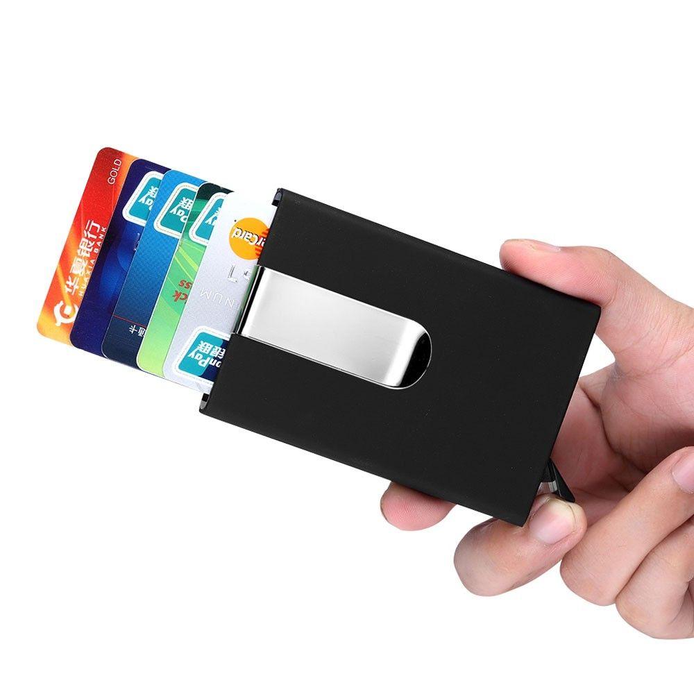 New Luxury Men\'s business card holder fashion brand metal credit ...