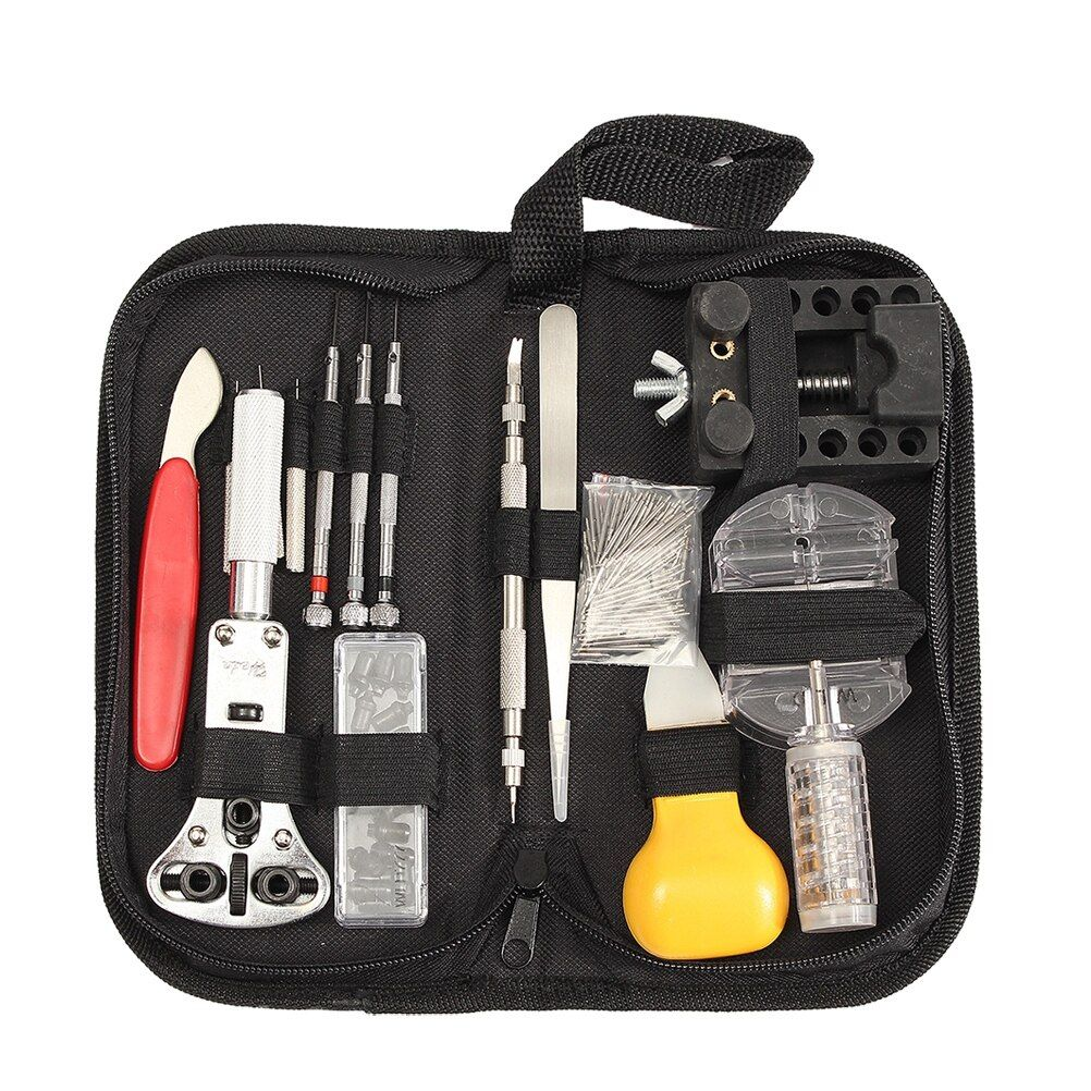 144pcs Watch Repair Kit Professional Durable Portable Watch Maintance Kits Spring Bar Tool Set Watch Case Opener With Carrying 144pcs W In 2020 Watch Case Opener Pin Tool Tool Kit