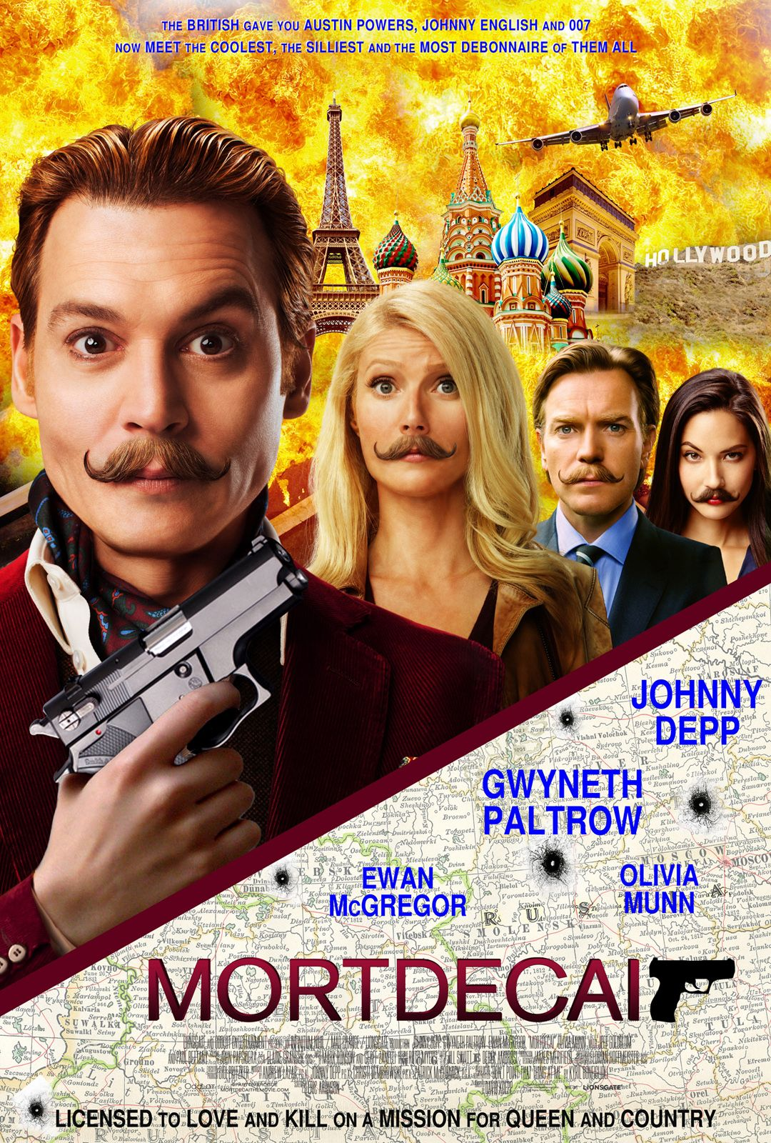 Image result for mortdecai poster