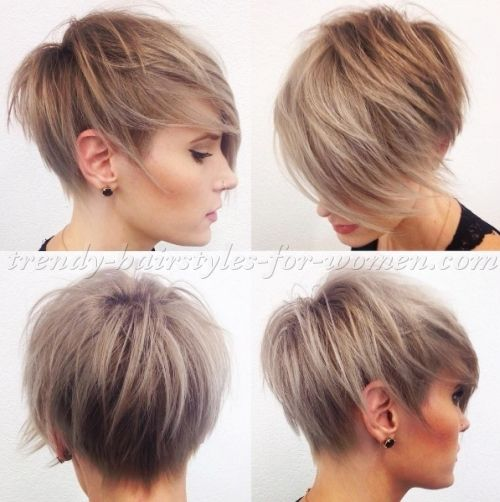 Short Haircut With Long Fringe Frisure Kort Har Frisure Kort Har