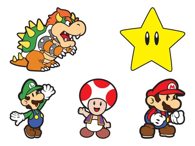 Super Mario Characters Vector Free Super Mario Art Cartoon