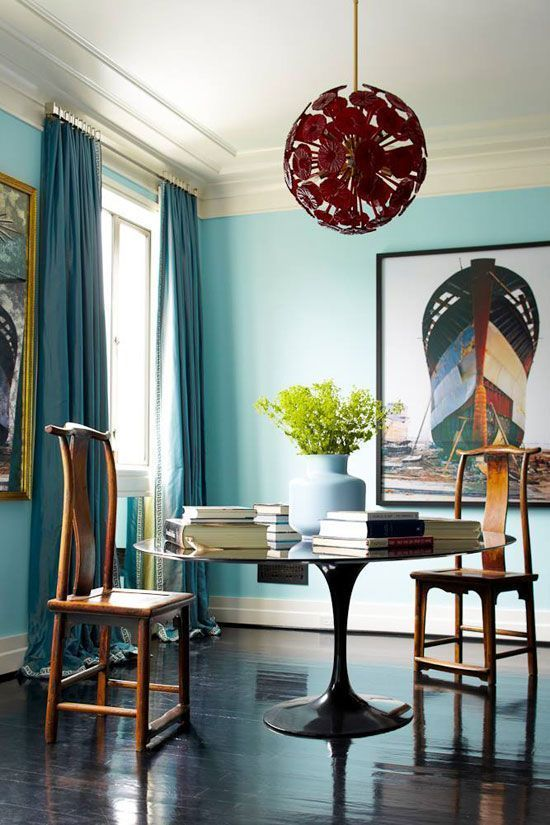 15 Beautiful Blue Rooms Turquoise Dining RoomBlue