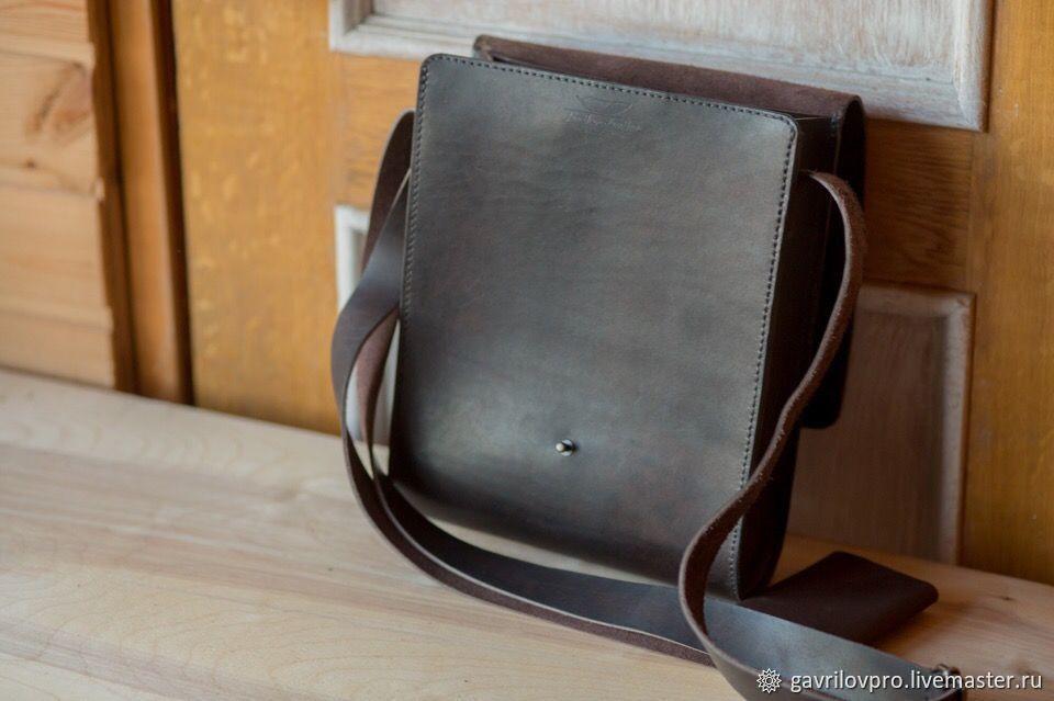 7d2f6880f4fc Мужские сумки ручной работы. Мужская кожаная сумка ' Куба'. Мастерская  кожаных изделий (Gavrilovpro). Интернет-магазин Ярмарка Мастеров.