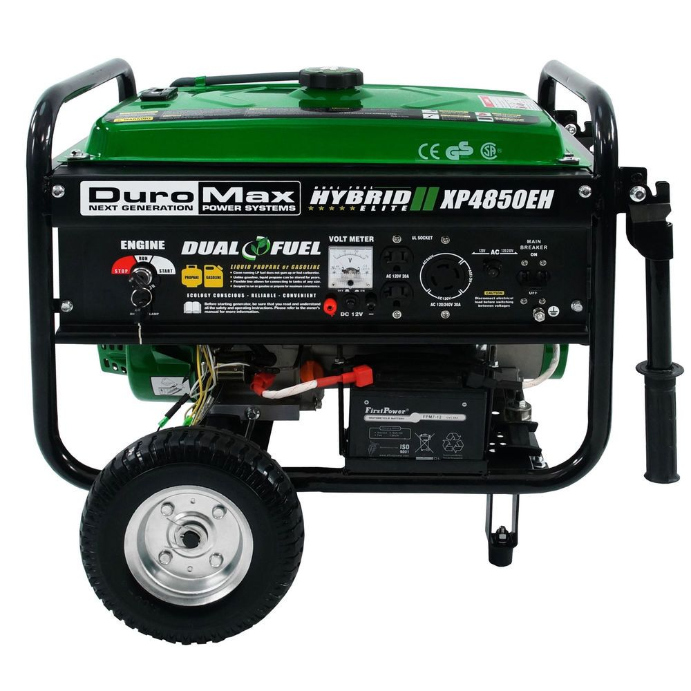 Details about DuroMax XP4850EH Hybrid Portable Dual Fuel