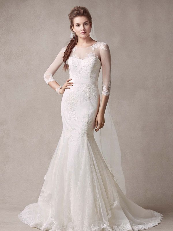 Elegant and sophisticated you will look ultra feminine in for Melissa sweet lace wedding dress