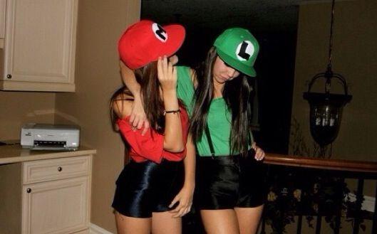 Next years Halloween Costume? Mario and Luigi Halloween costumes - halloween costume ideas for friends