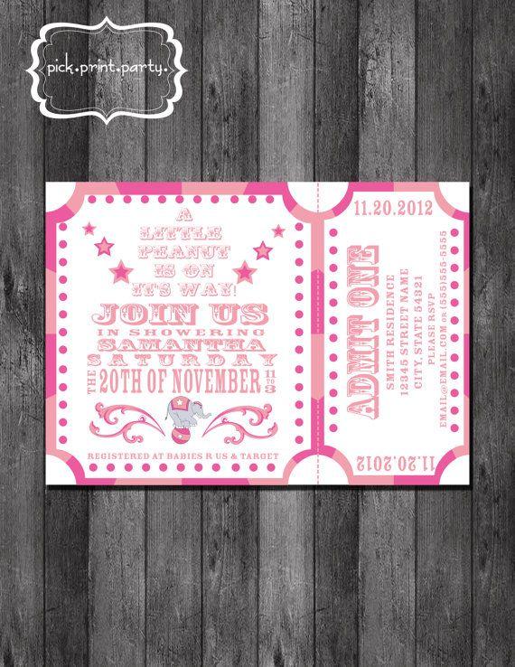 carnival baby shower invitation little peanut diy printable