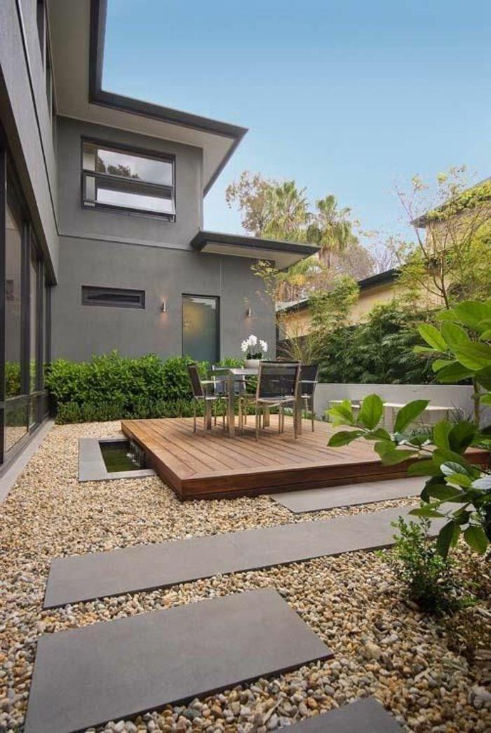 jardin paysager paysager son jardin moderne back yard pinterest. Black Bedroom Furniture Sets. Home Design Ideas