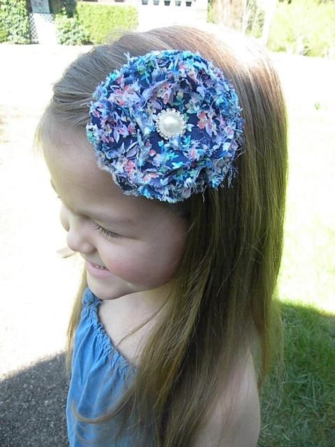 Vintage Inspired Shabby Chic Hair Clip    Facebook.com/beckysbows