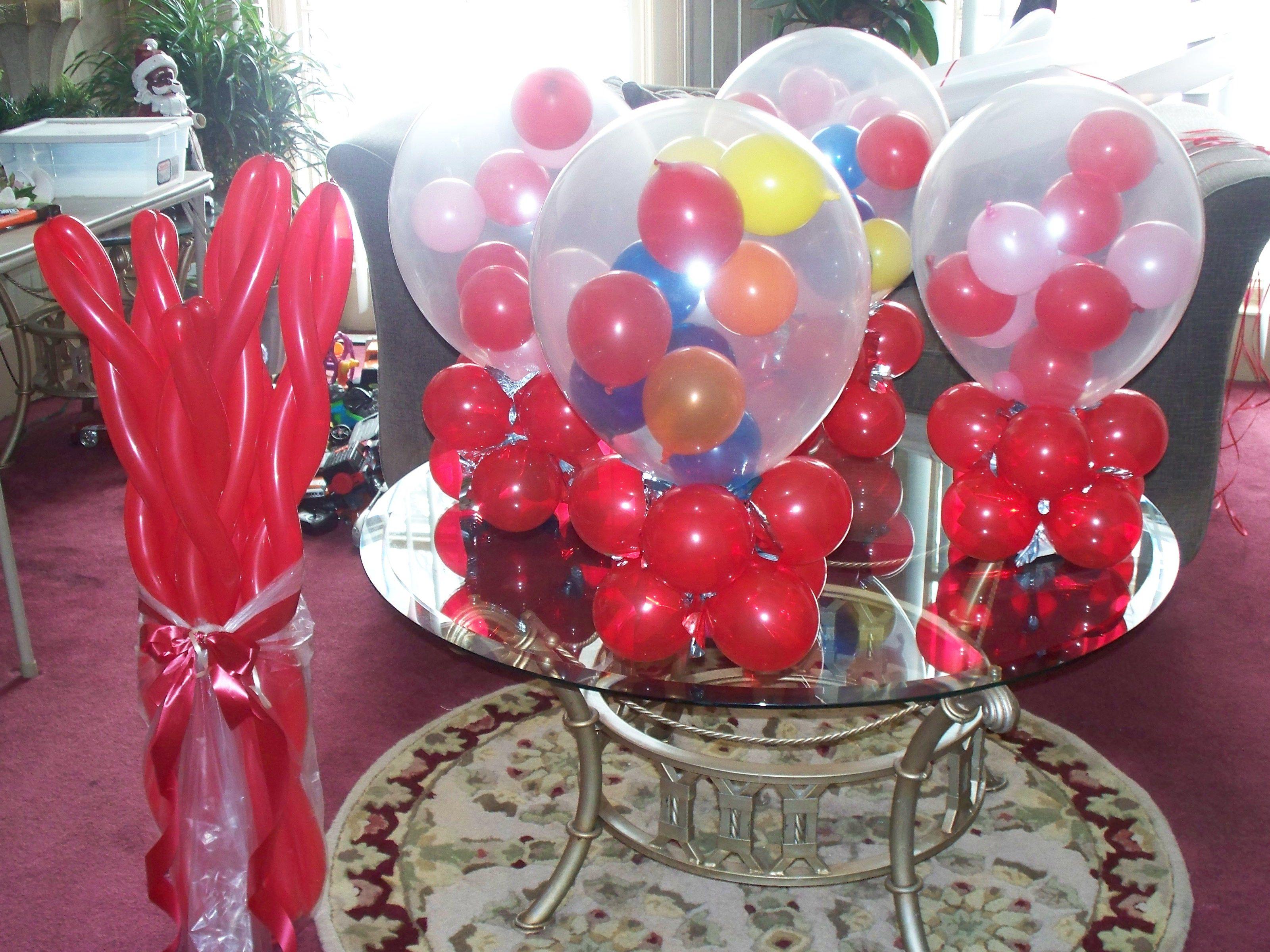 Candy themed centerpiece ideas party pinterest
