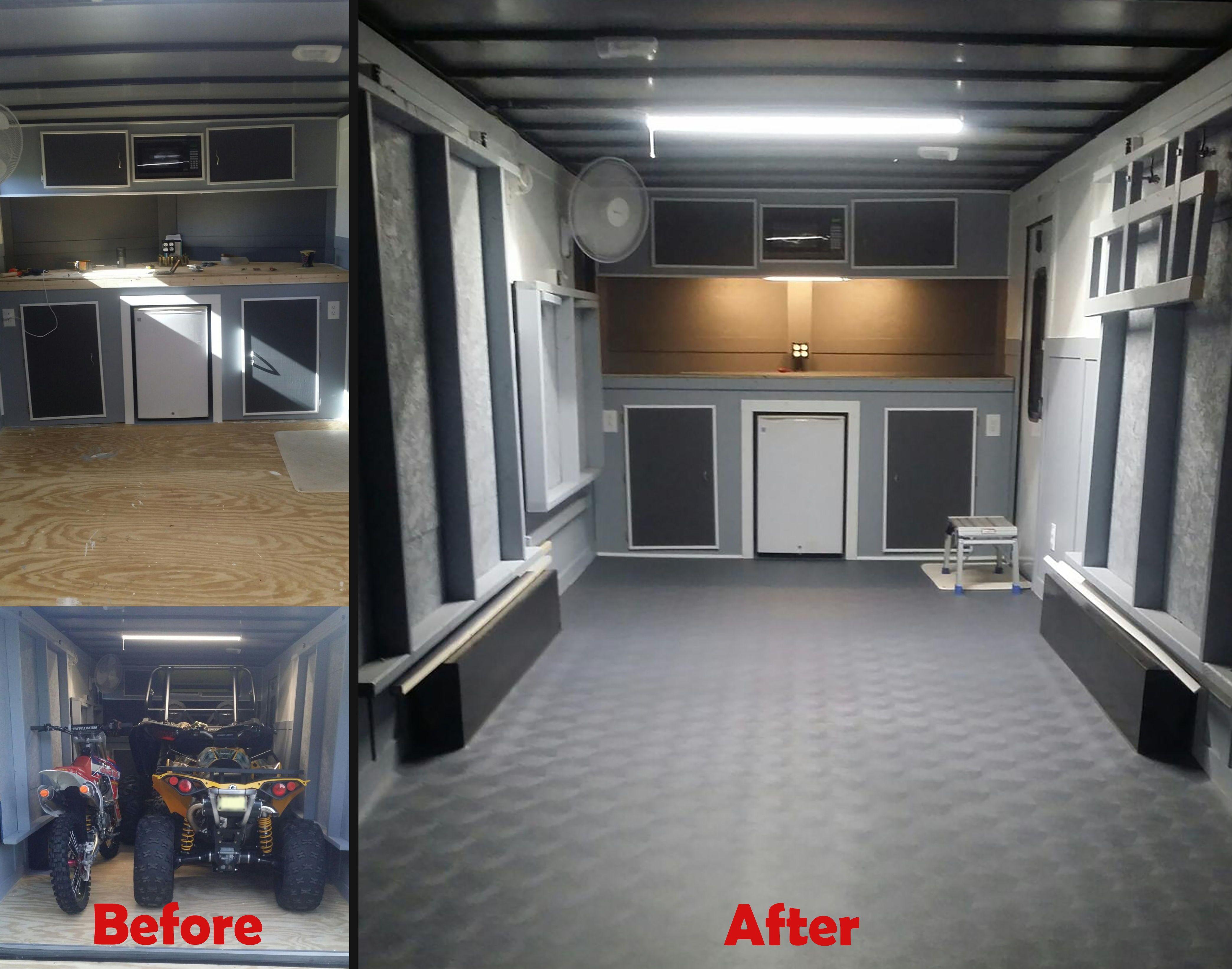 Here S A Trailer Project Garageflooring Flooring Cargo
