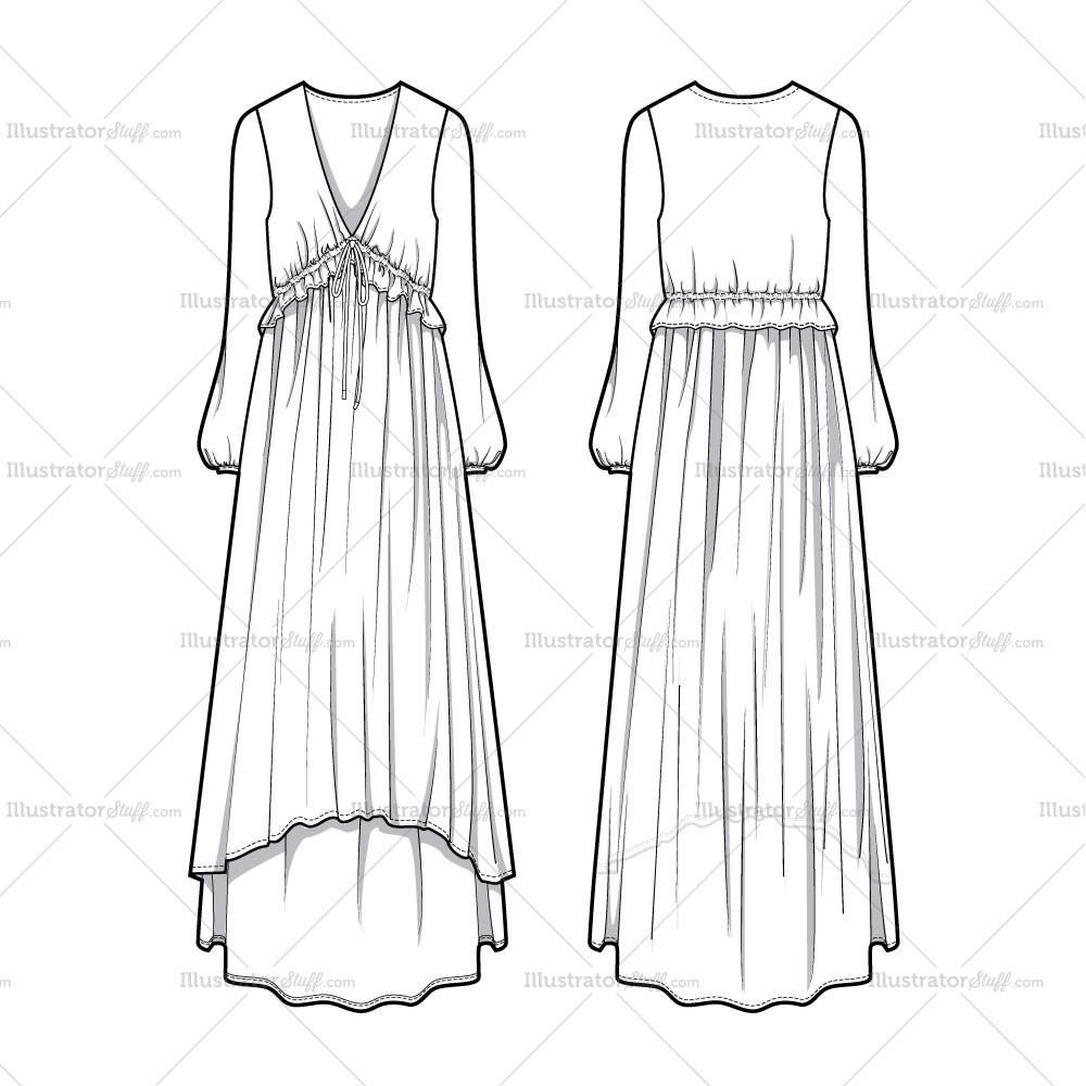 Free Fashion Flat Templates Trim Pack Dress Design Sketches Fashion Illustration Dresses Dress Sketches