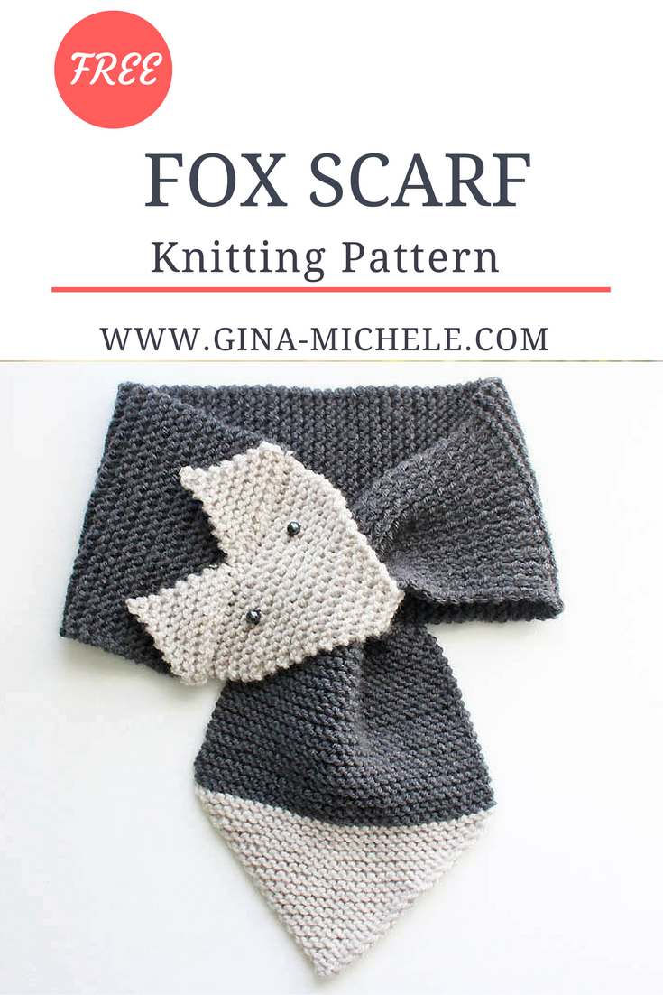 Fox Scarf Knitting Pattern- women & child sizes | Pinterest | Fox ...
