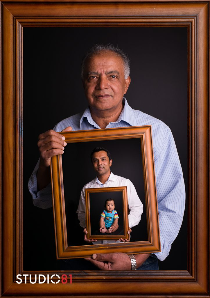 three generations in one studio81 portrait photography grandfather father son