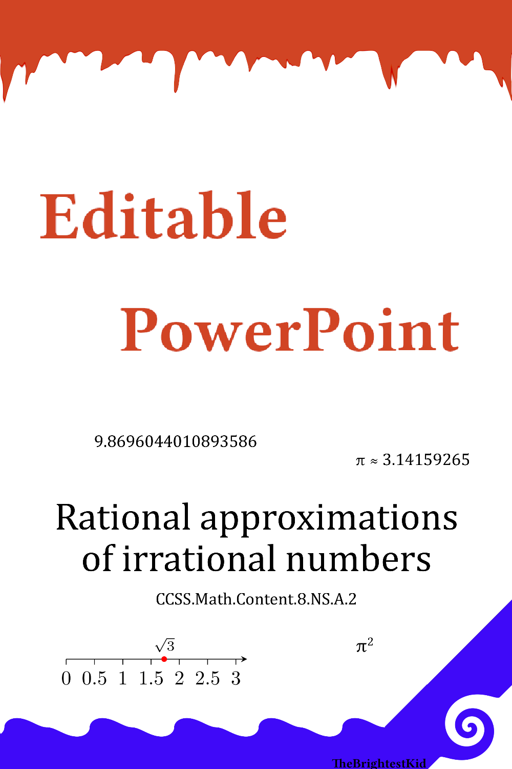 Rational Approximations Of Irrational Numbers Irrational Numbers Editable Powerpoint High School Fun [ 1500 x 1000 Pixel ]