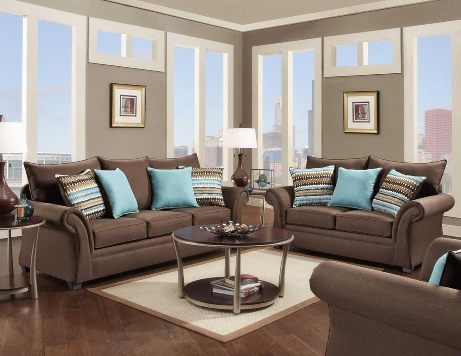 892 - The Paradigm Living Room Set - Grey | New living room ...