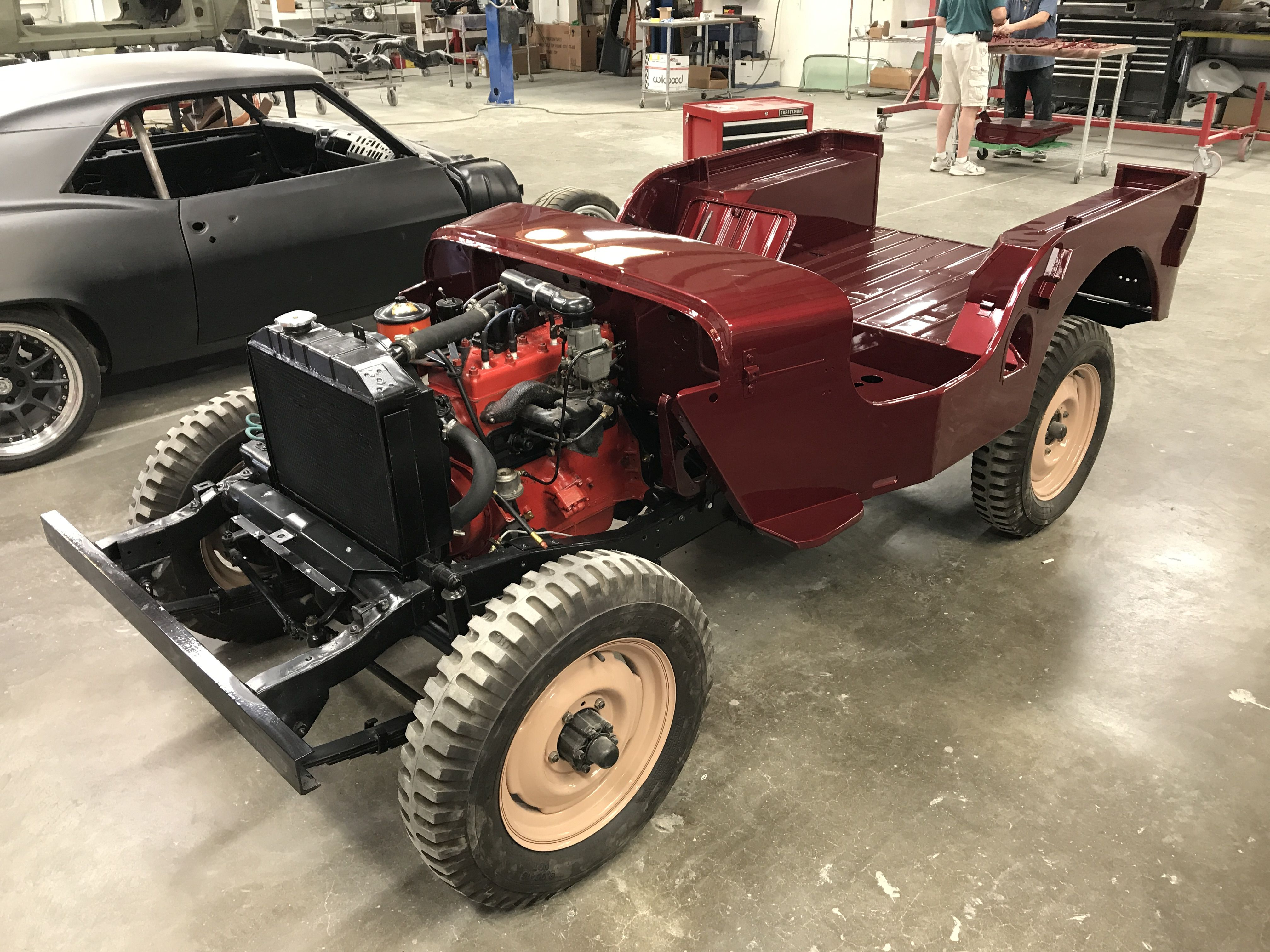 47 Willys Jeep In Candy Apple Red Yeah Baby We Ll Paint Anything