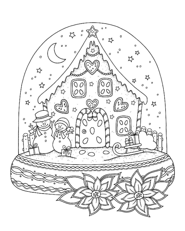 snow globe coloring sheet clas sn 246 gubbe