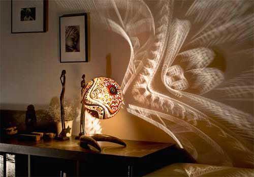 Shadow Lamps custom lamp shade - design via www.trendsi | lighting | pinterest