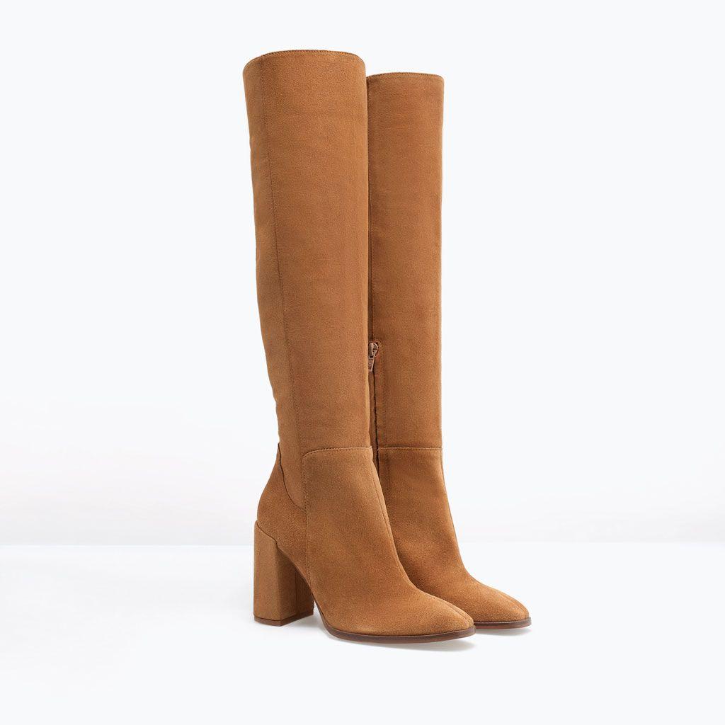 a39760b9585d9 Botas de caña alta marrones de Zara   Cosas para comprar