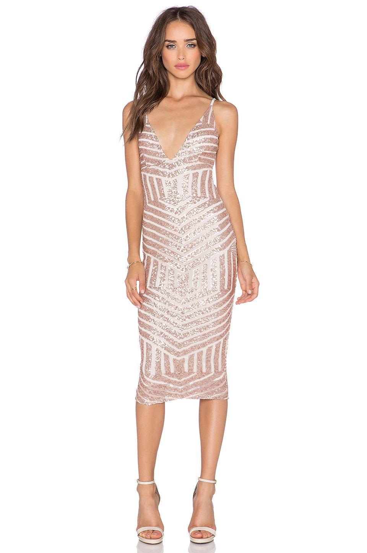 Dress For Wedding In October Nookie Starstruck Sequin Slip Nude