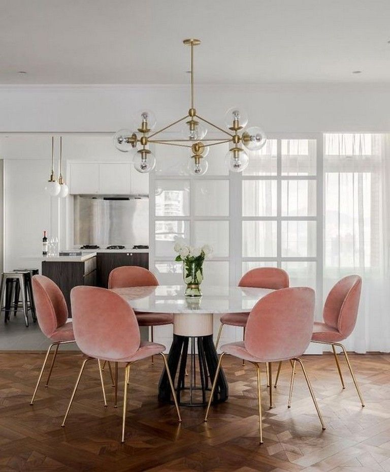 33 Beautiful Pink Dining Room Chairs Ideas Dining Room Chairs Modern Pink Dining Rooms Mid Century Dining Room