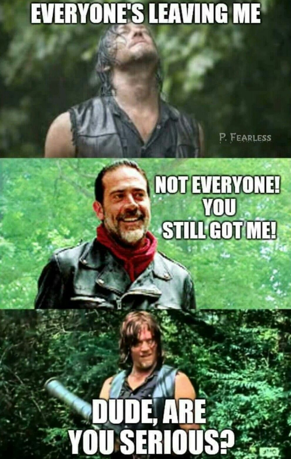Daryl And Negan With Images Walking Dead Funny Walking Dead