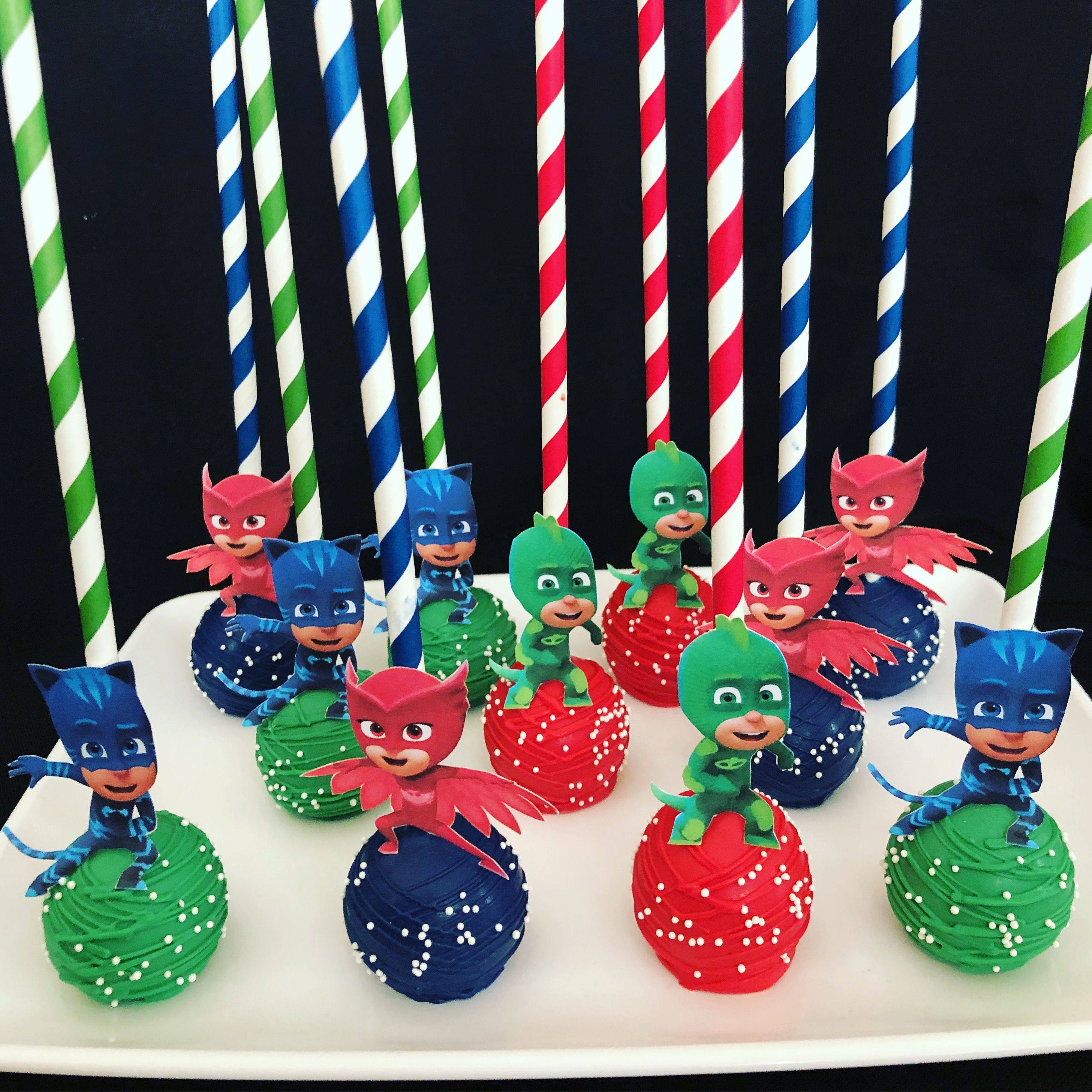 Pj Mask Cake Pops Pj Mask Oreos Etsy Shop Candysimply