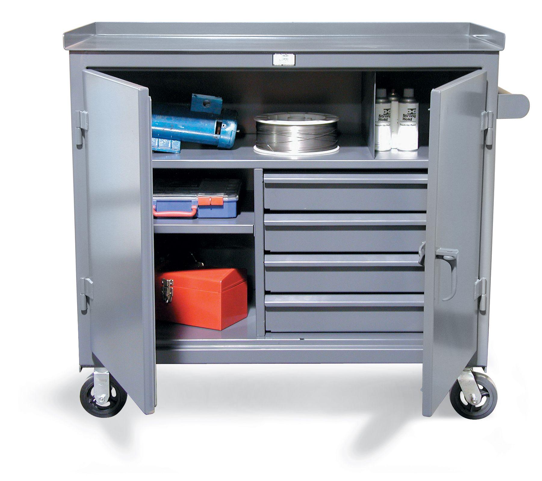 Modular Tool And Maintenance Cart Tool Cart With 4 Half Width