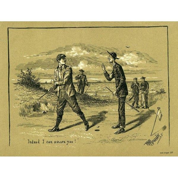 Antique 1903 English Golfing Print ($85) ❤ liked on Polyvore ...