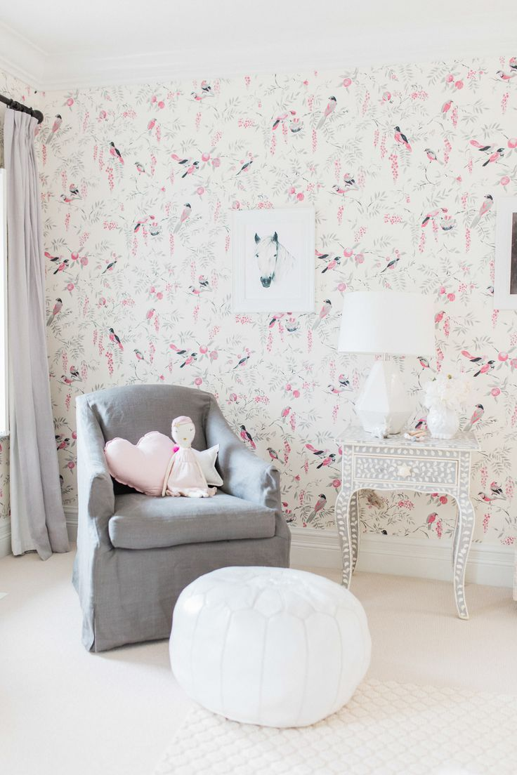 Juniper\u0027s Vintagey Bird Wallpaper Nursery | Nursery, Wallpaper and ...