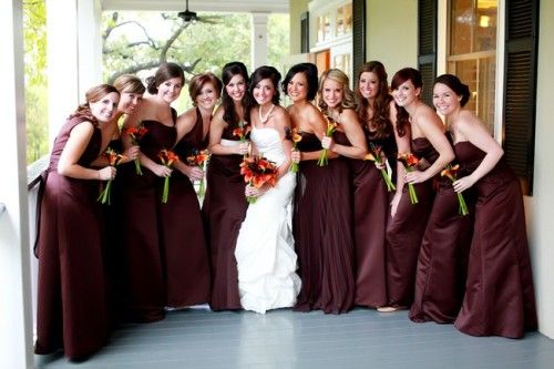 I was thinking if i had a red maroon gown i 39 d make my for Bridesmaid dresses for november weddings
