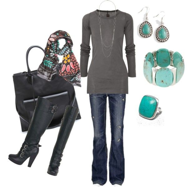 Gray Turquoise, created by calyson on Polyvore