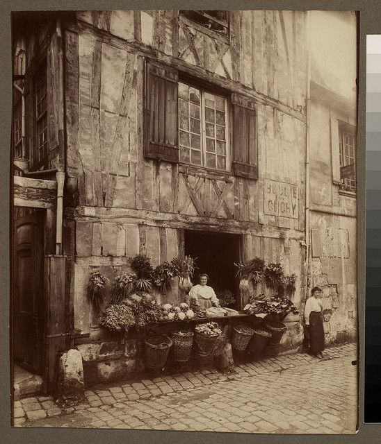 Rouen - maison 108 rue Moliere by Eugene Atget, by George Eastman House, via Flickr