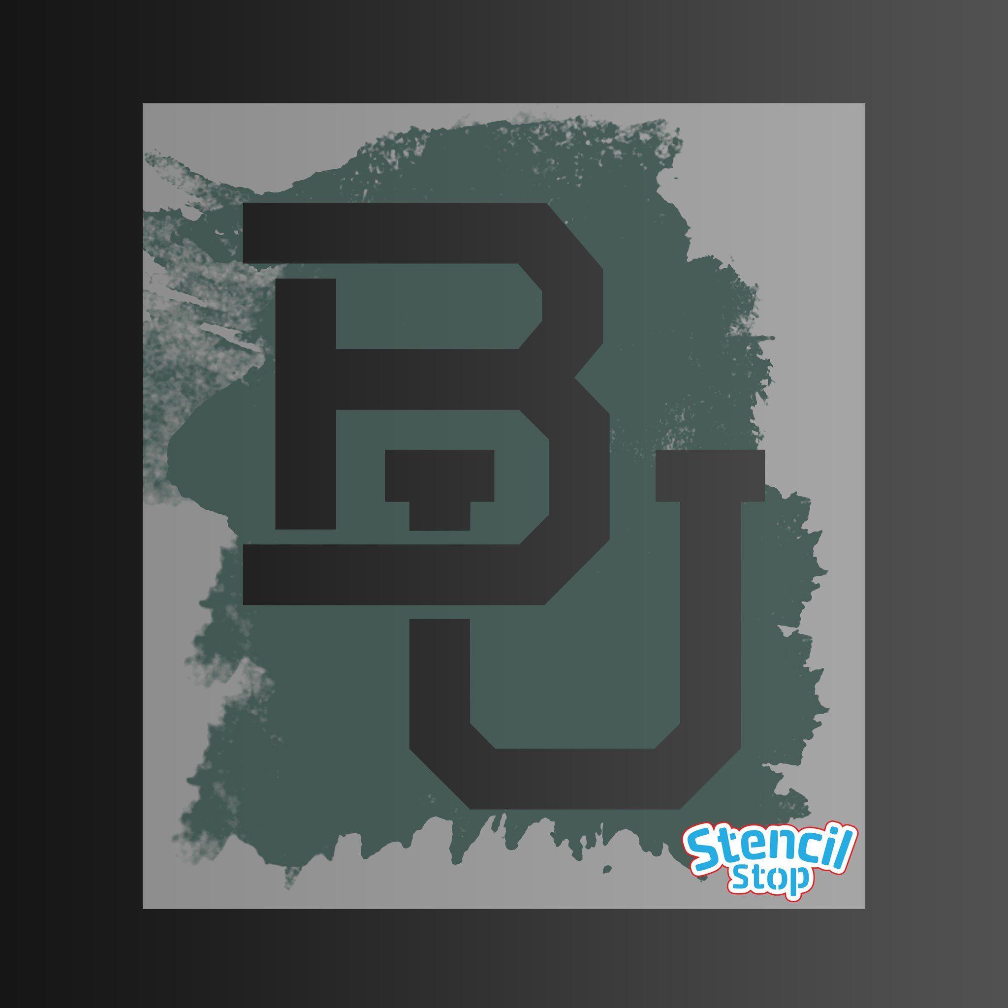 Baylor Bears Bu Logo Stencil With Images Stencils Baylor