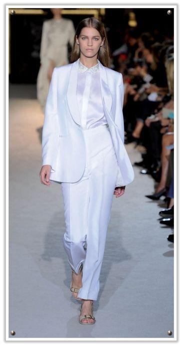Ice White Stella McCartney Trouser Suit #weddingdress | Femmè Fatale ...