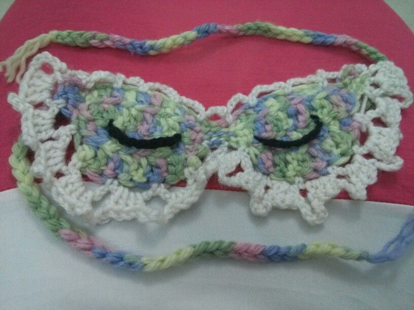 Sleeping eyes mask crochet | Handmade art | Pinterest | Häkeln