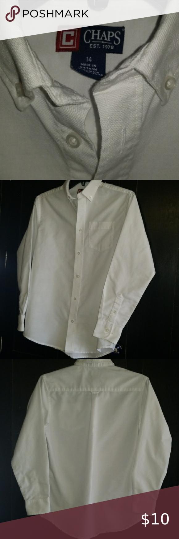 3 25 Boys 14 Chaps Long Sleeve Dress Shirt Boys Chaps White Long Sleeve Button Down Dress Shirt 55 Chaps Shirts Long Sleeve Shirt Dress White Long Sleeve [ 1740 x 580 Pixel ]