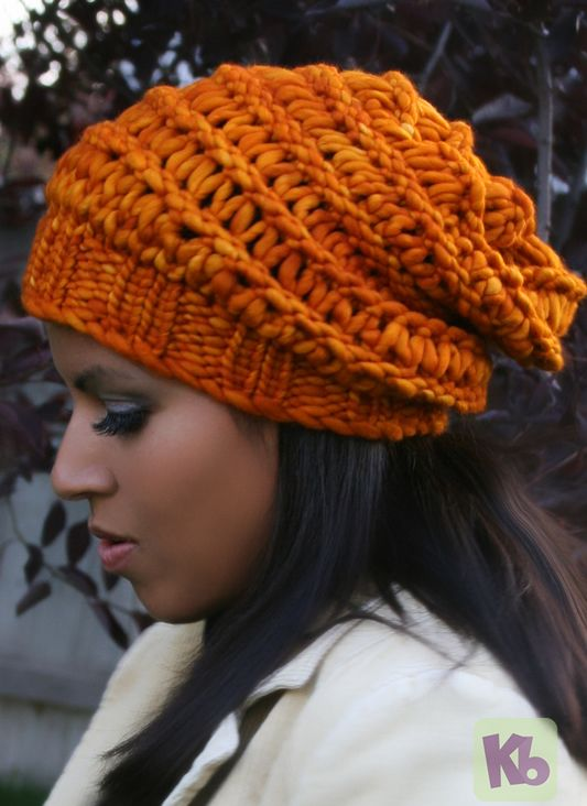 Knitting On A Loom Hat : Autumn slouch hat « knitting board knit for me