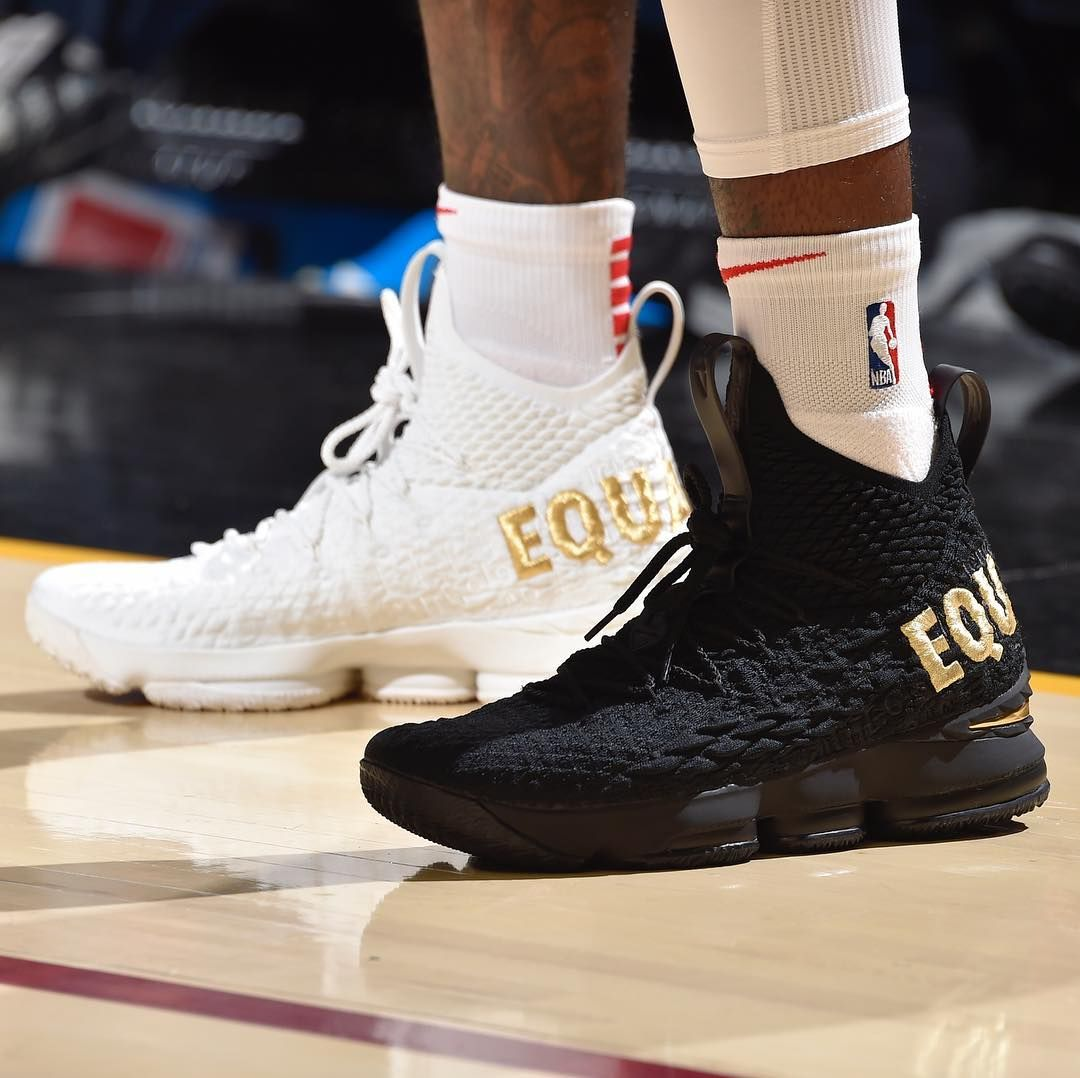 "c16556f95292b Bleacher Report Kicks on Instagram  ""Another one.  TaureanPrince brings out  the Nike LeBron 15 ""Equality"" tonight vs. the Cavs"""