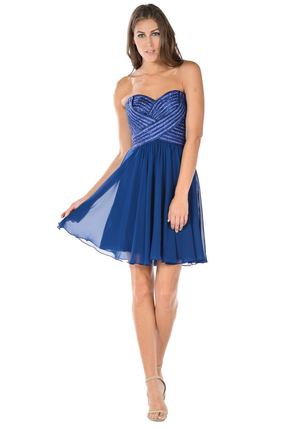 Navy Short Strapless Dress With Sequined Top By Poly Usa In 2021 Strapless Dresses Short Aqua Dress Off White Dresses [ 1500 x 1000 Pixel ]
