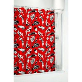 404 Not Found 1 Retro Shower Curtain Curtains Sourpuss Clothing