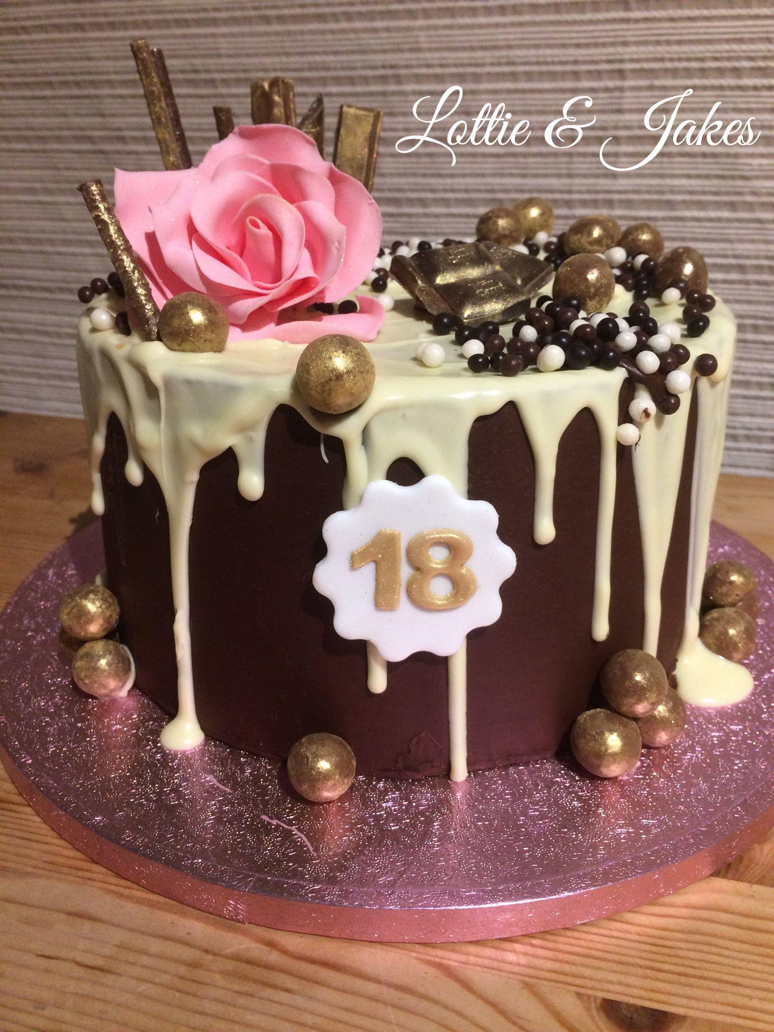 Stunning Drip Cake For An 18th Birthday Cake Birthday Cake