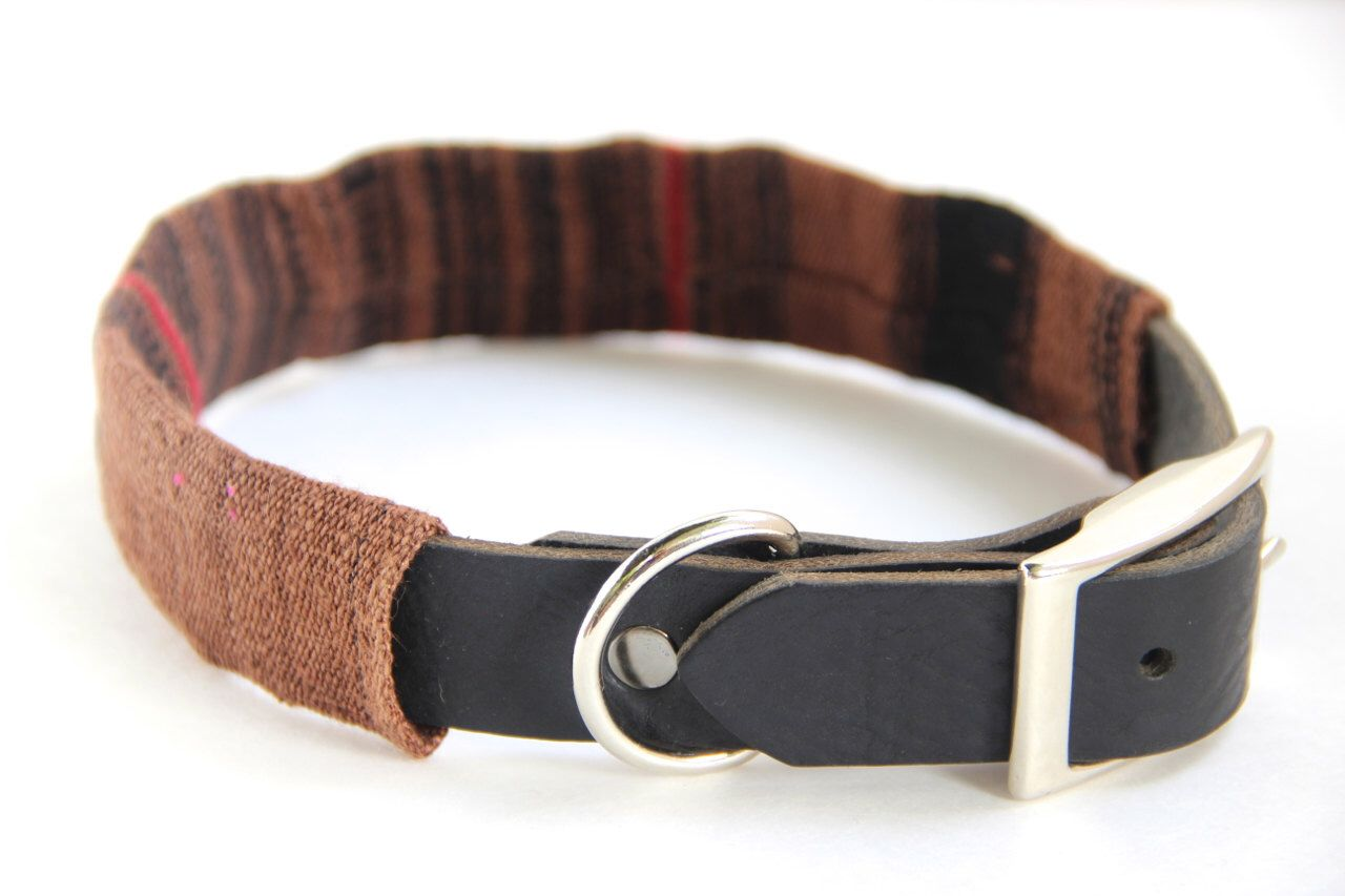 Dog Collar Sleeve // Coffee and Black // SLEEVE ONLY by ikeandstella on Etsy (null)