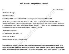 how to changecorrection employee name in esic portal download esic name change letter format in word