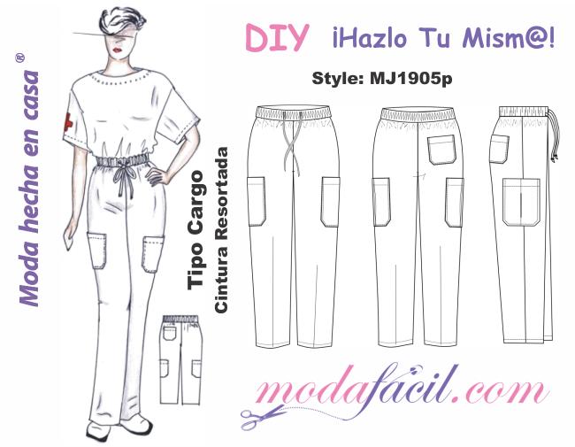 Pantalón Cargo de Uniforme de Trabajo MJ1905p | costuras | Pinterest ...