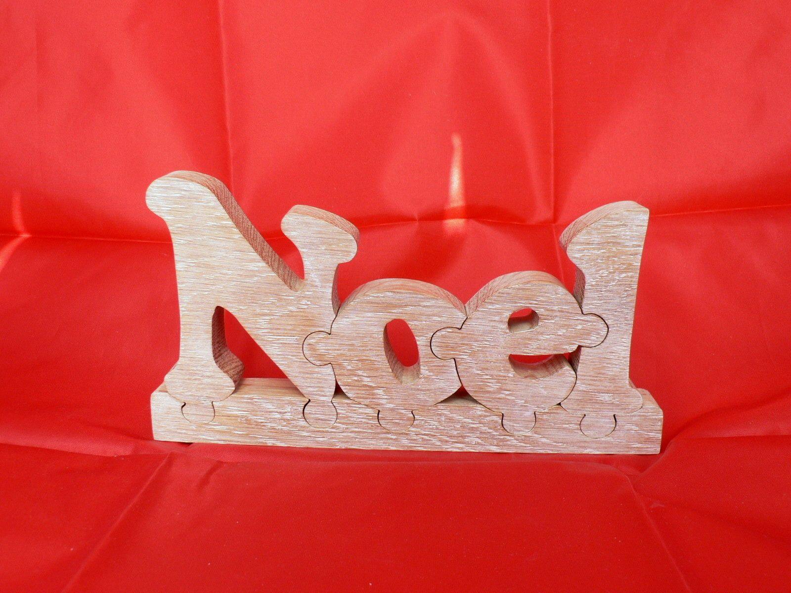 mot noel fa on puzzle en bois d coup puzzle en bois. Black Bedroom Furniture Sets. Home Design Ideas